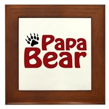 Papa Bear Claw Framed Tile