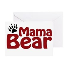 Mama Bear Claw Greeting Card