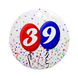 39th Birthday Ornament (Round)