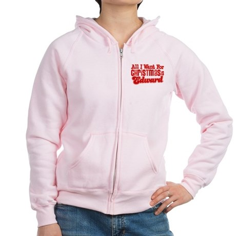 Edward Christmas Women's Zip Hoodie