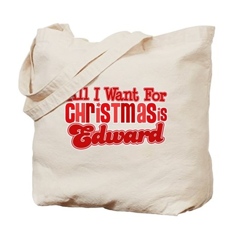 Edward Christmas Tote Bag