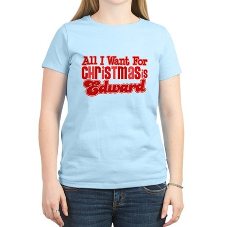 Edward Christmas Women's Light T-Shirt