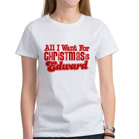 Edward Christmas Women's T-Shirt