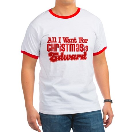Edward Christmas Ringer T