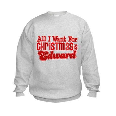 Edward Christmas Kids Sweatshirt