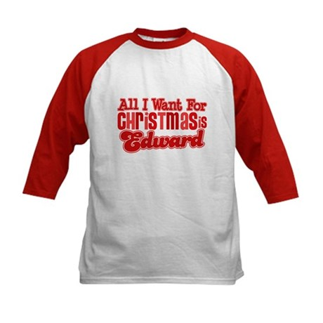 Edward Christmas Kids Baseball Jersey