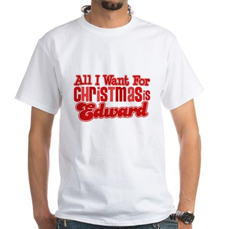 Edward Christmas White T-Shirt