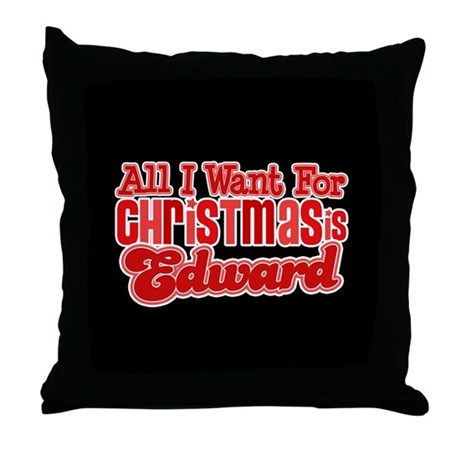 Edward Christmas Throw Pillow
