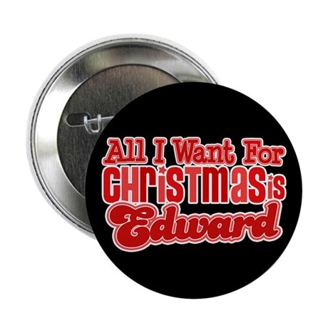 "Edward Christmas 2.25"" Button"
