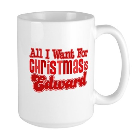 Edward Christmas Large Mug