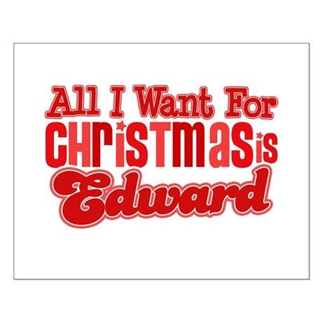 Edward Christmas Small Poster