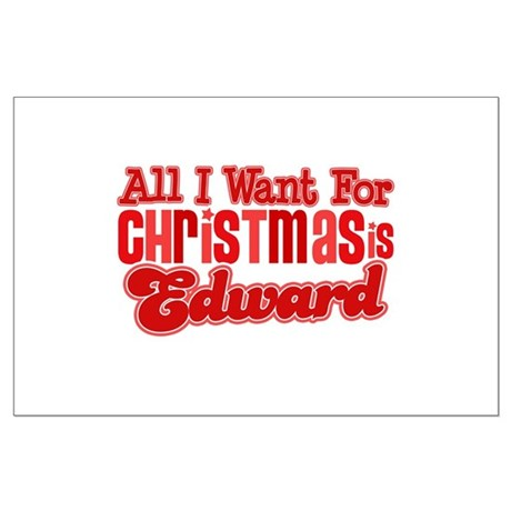 Edward Christmas Large Poster