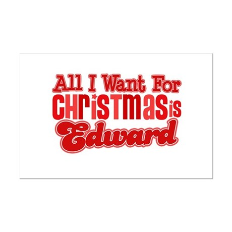Edward Christmas Mini Poster Print
