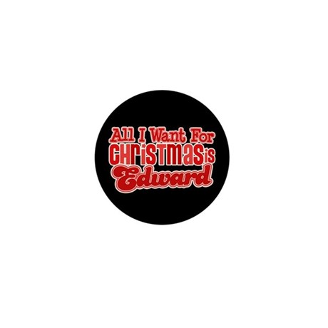 Edward Christmas Mini Button (10 pack)