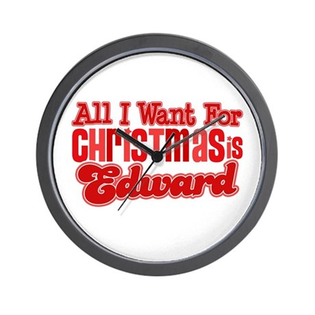 Edward Christmas Wall Clock