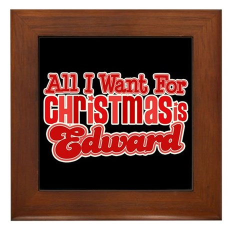 Edward Christmas Framed Tile