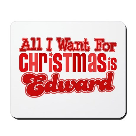 Edward Christmas Mousepad