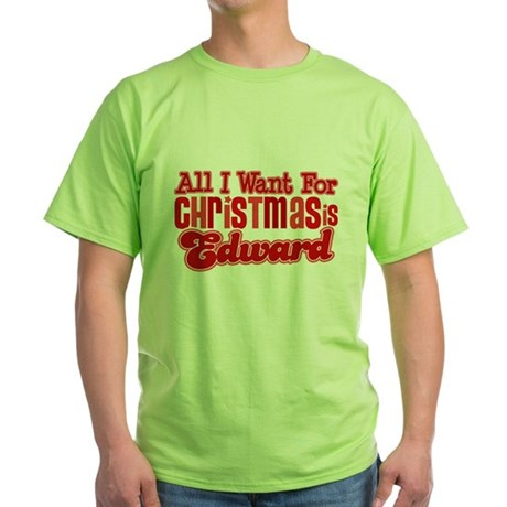 Edward Christmas Green T-Shirt