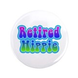 "Retired Hippie 3.5"" Button (100 pack)"