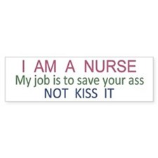 Nurse Ass Bumper Car Sticker