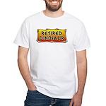 Retired Dinosaur White T-Shirt