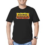 Retired Dinosaur Men's Fitted T-Shirt (dark)