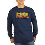 Retired Dinosaur Long Sleeve Dark T-Shirt