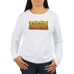 Retired Dinosaur Women's Long Sleeve T-Shirt