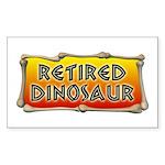 Retired Dinosaur Rectangle Sticker