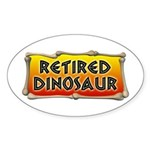 Retired Dinosaur Oval Sticker