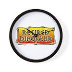 Retired Dinosaur Wall Clock