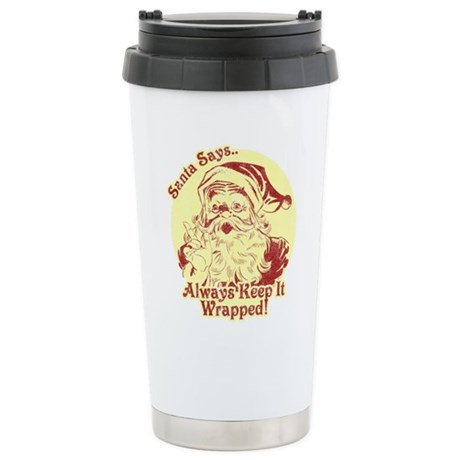 Always Keep It Wrapped Ceramic Travel Mug