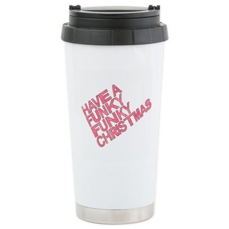 Have a Funky Funky Christmas Ceramic Travel Mug