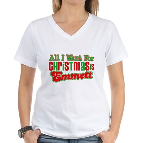 Christmas Emmett Women's V-Neck T-Shirt
