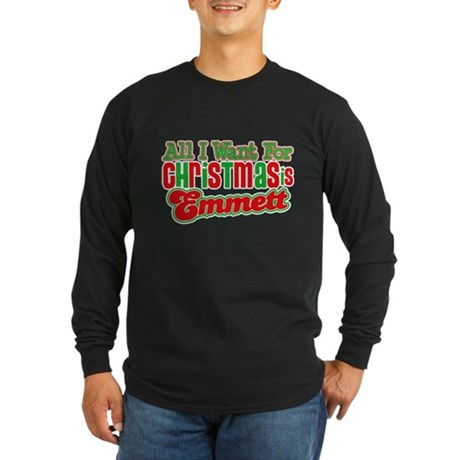 Christmas Emmett Long Sleeve Dark T-Shirt