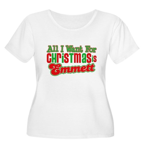 Christmas Emmett Women's Plus Size Scoop Neck T-Sh
