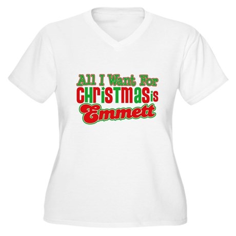 Christmas Emmett Women's Plus Size V-Neck T-Shirt