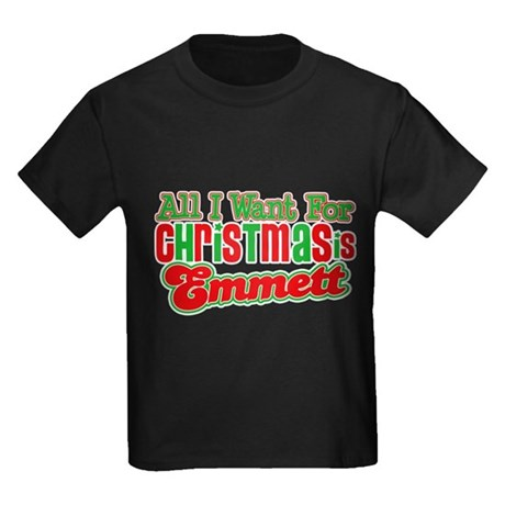 Christmas Emmett Kids Dark T-Shirt