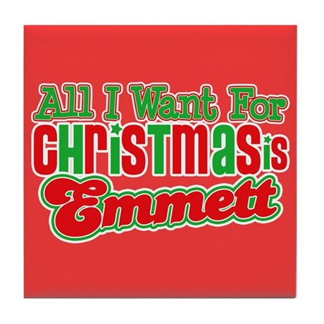 Christmas Emmett Tile Coaster