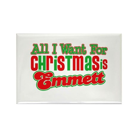 Christmas Emmett Rectangle Magnet
