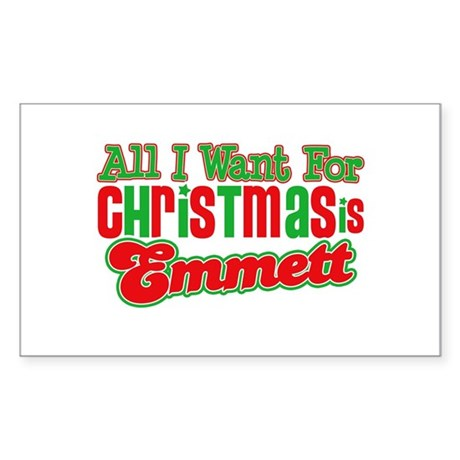Christmas Emmett Rectangle Sticker