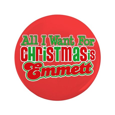 "Christmas Emmett 3.5"" Button"