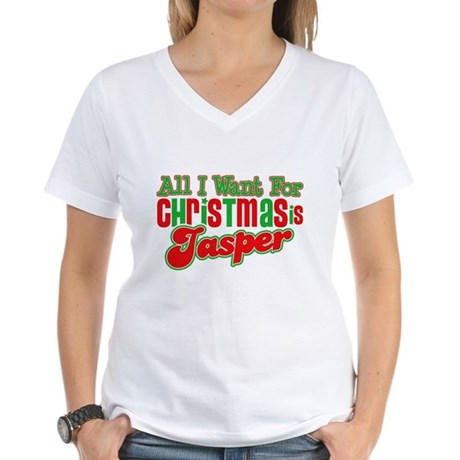 Christmas Jasper Women's V-Neck T-Shirt