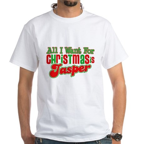 Christmas Jasper White T-Shirt