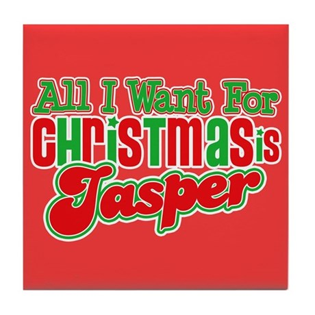 Christmas Jasper Tile Coaster