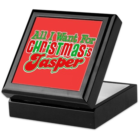 Christmas Jasper Keepsake Box