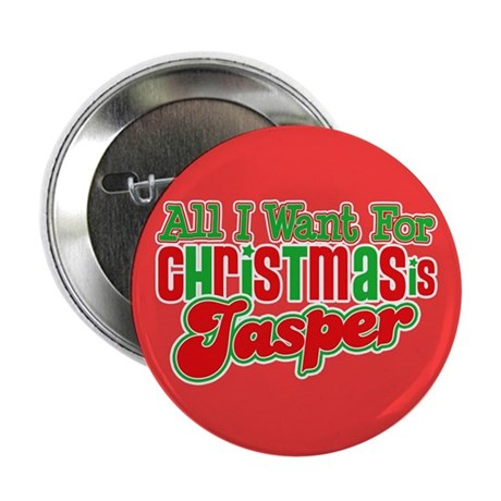 "Christmas Jasper 2.25"" Button"
