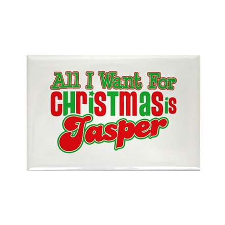 Christmas Jasper Rectangle Magnet