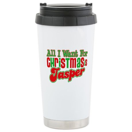 Christmas Jasper Ceramic Travel Mug