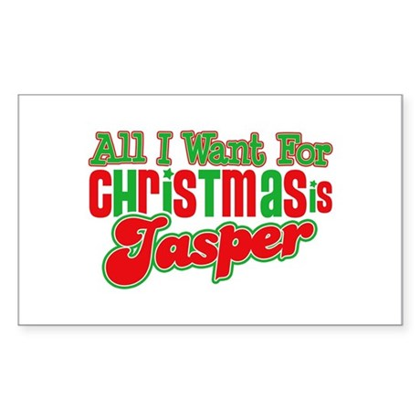 Christmas Jasper Rectangle Sticker